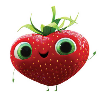 This is Barry from Cloudy with a Chance of Meatballs 2. He is the cutest strawberry ever, and the movie was just too adorable. I really recommend it!