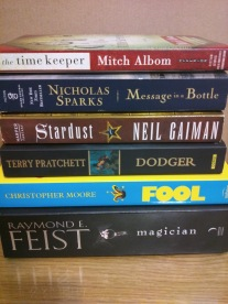 The 2-star books. So many disappointments here... especially Dodger and The Time Keeper. I had a miserable time reading Feist - it took me ages to finish it because it kept dragging on and on.