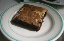 Classic, moist brownie with a cheesy twist! Very very good.