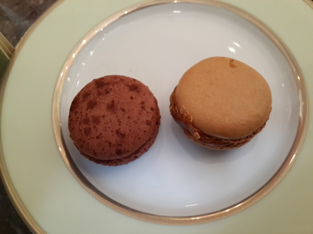 Columbian Chocolate and Salter Caramel Macarons