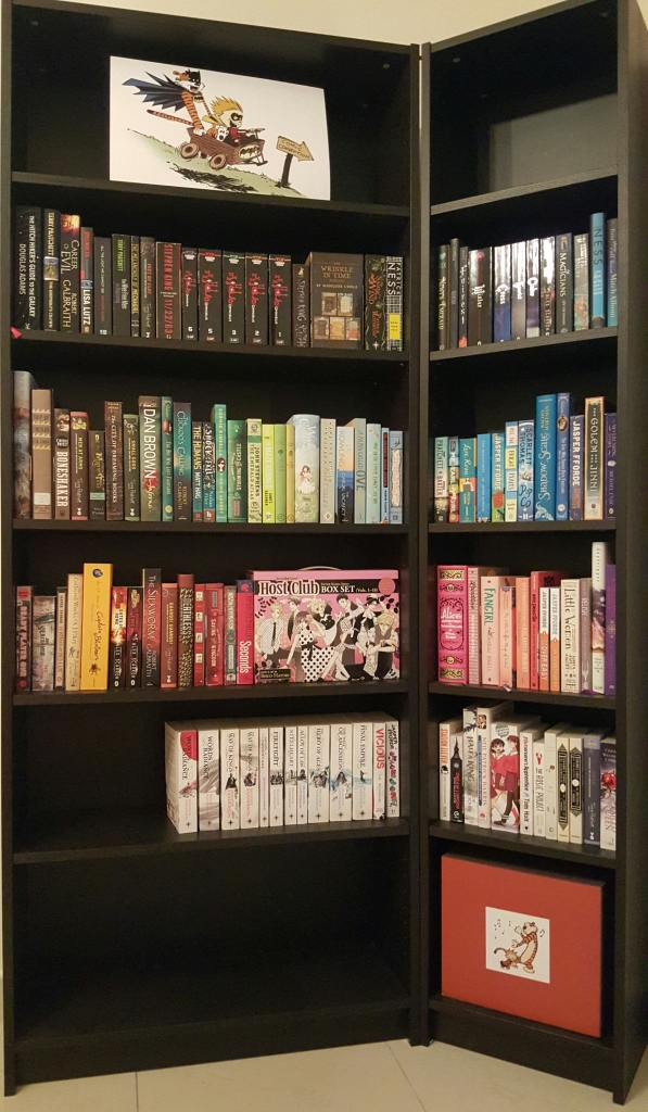My bookcase in all its glory. Just you watch, there won't be any room left by the end of this year.