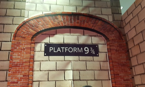 Through the platform and onto the train.